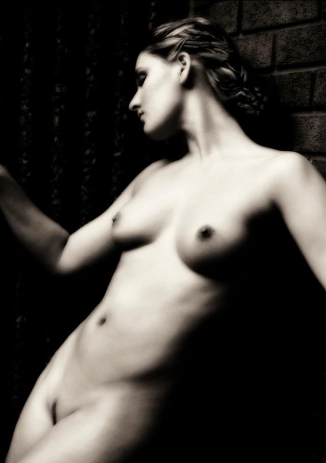 Обнажённая женщина у кирпичной стены. Авторы Тревор и Фэй Йербери
