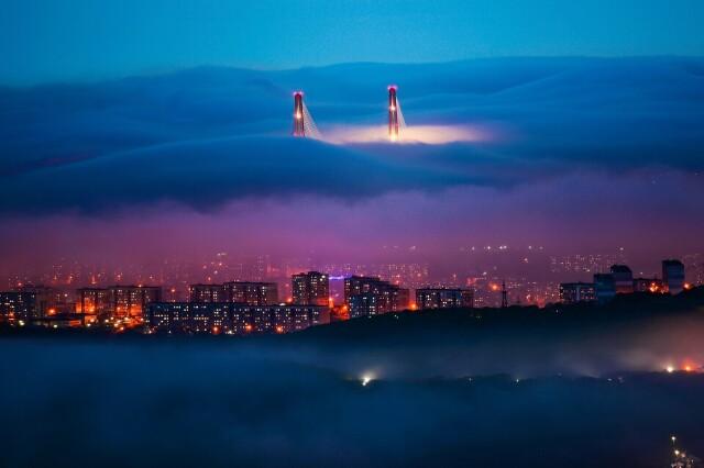 Финалист в номинации «Пейзаж», 2021. Волшебный туман. Автор Юрий Смитюк