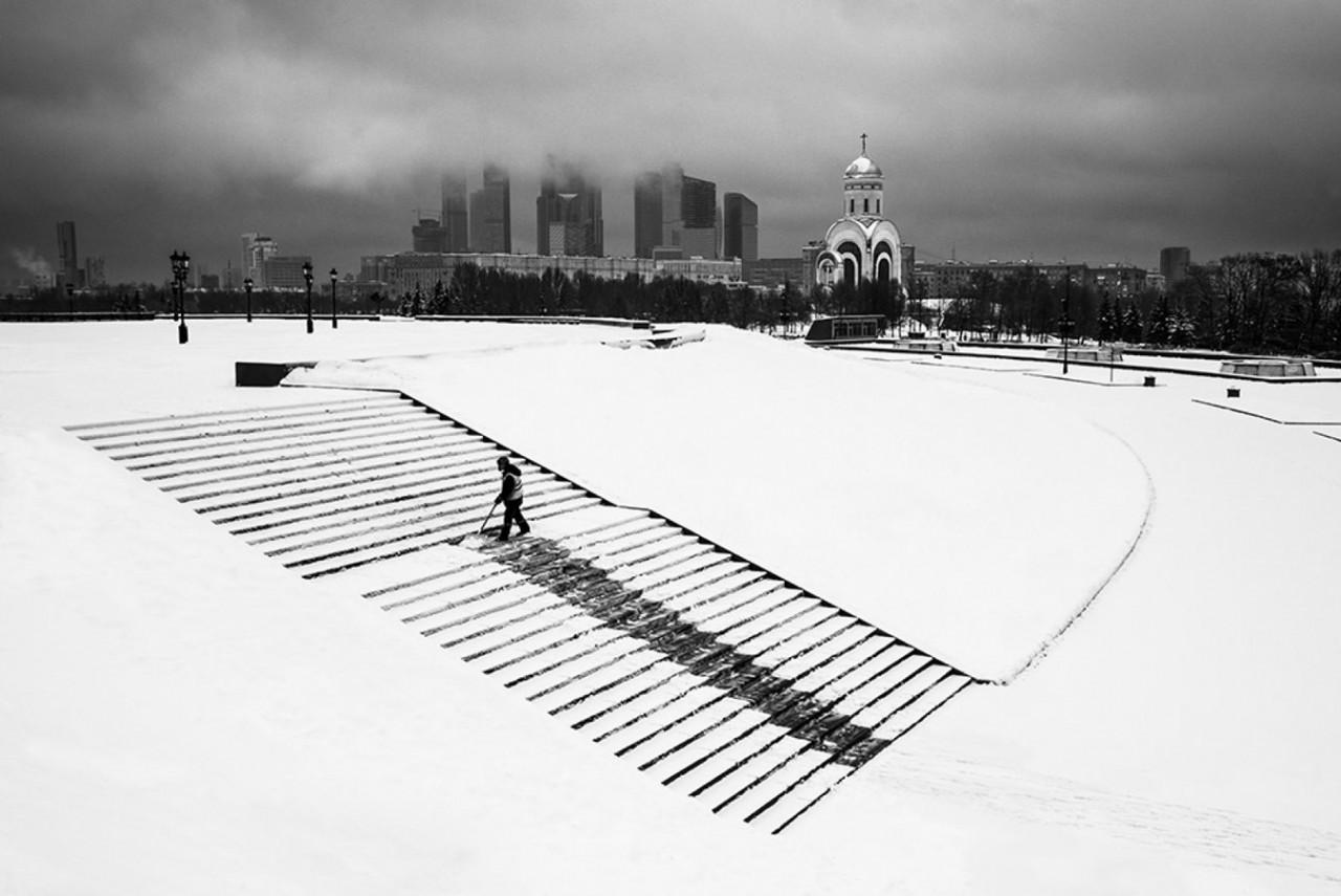 Финалист в категории «Архитектура», 2019. «Зимняя Москва». Автор Виталий Новиков