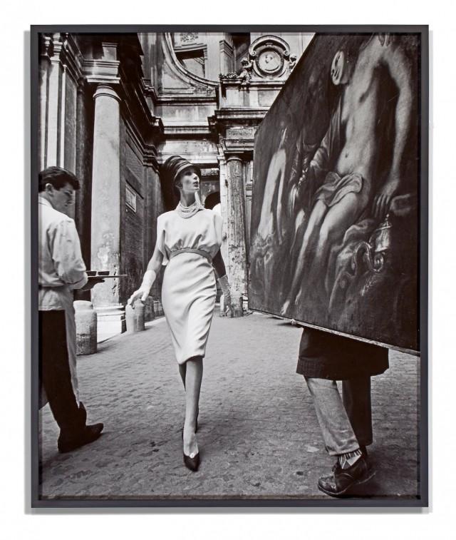 Симона и живопись. Рим, 1960 год. Фотограф Уильям Кляйн