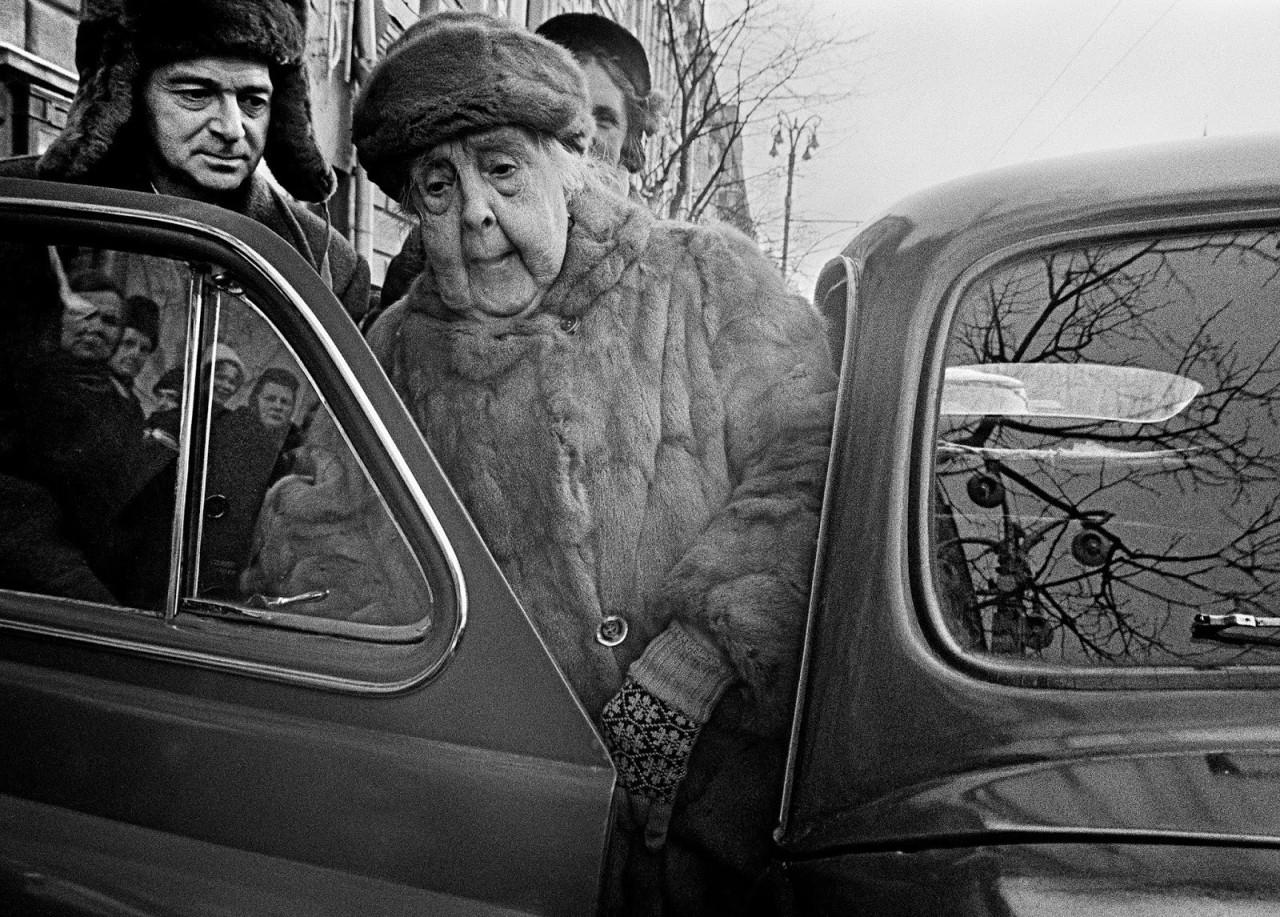 Александра Александровна Яблочкина, Москва, 1959 год. Фотограф Уильям Кляйн