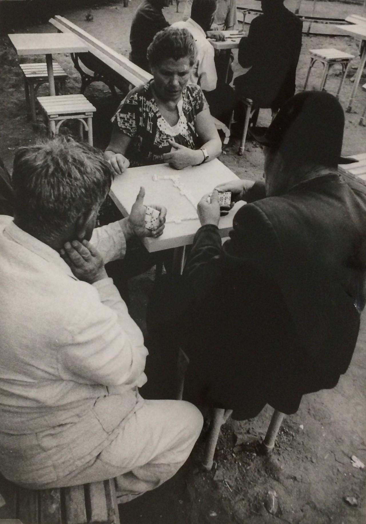 Игра в домино, Москва, 1959 год. Фотограф Уильям Кляйн