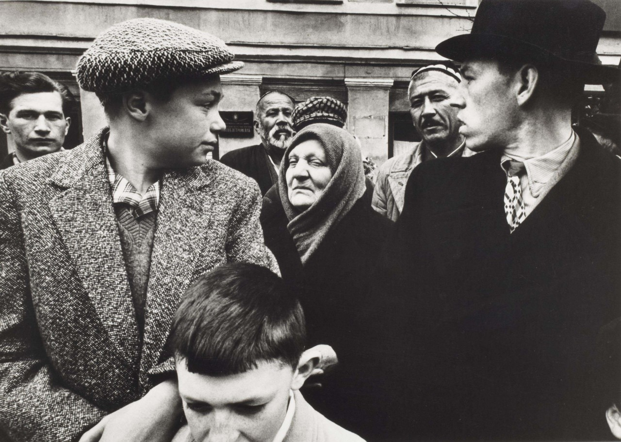 Парад 1 мая 1961 года, улица Горького, Москва. Фотограф Уильям Кляйн