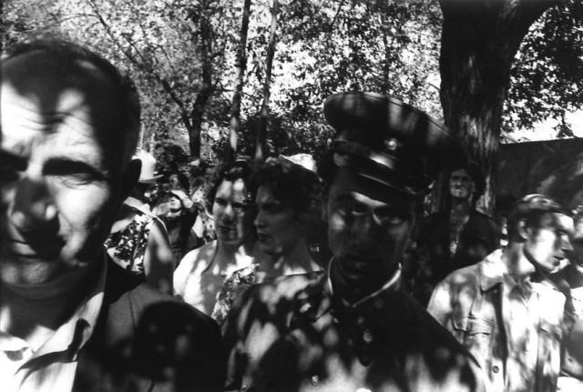 Парк Горького, Москва, 1959 год. Фотограф Уильям Кляйн