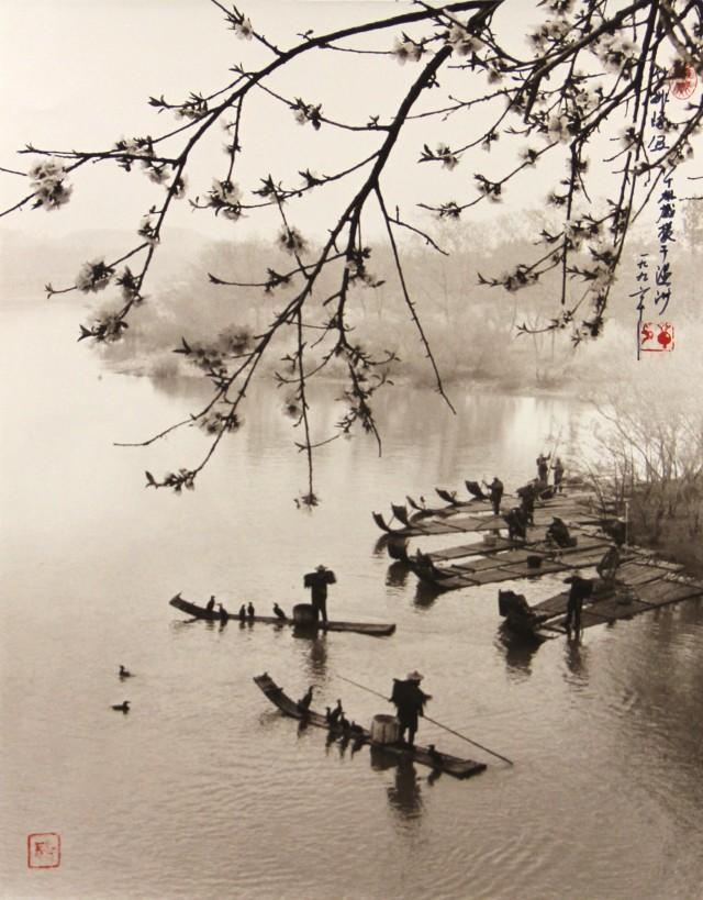Скопление бамбуковых лодок, Вэньчжоу, 1996. Фотограф Дон Хонг-Оай