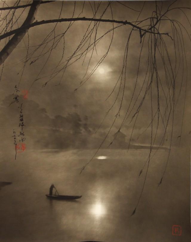 Зимний туман на реке. Вьетнам, 1974. Автор Дон Хонг-Оай