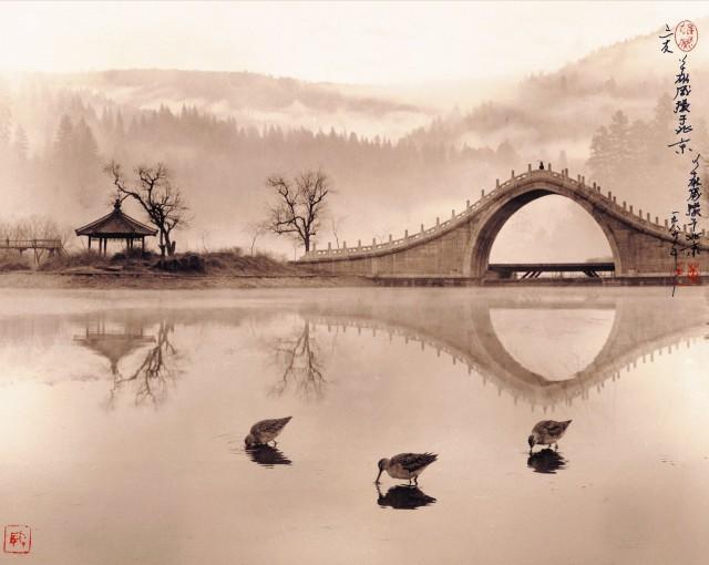 «Три приятеля». Пекин, 1989. Автор Дон Хонг-Оай