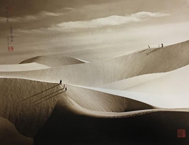 «На рынок». Песчаные дюны, Вьетнам, 1979. Автор Дон Хонг-Оай