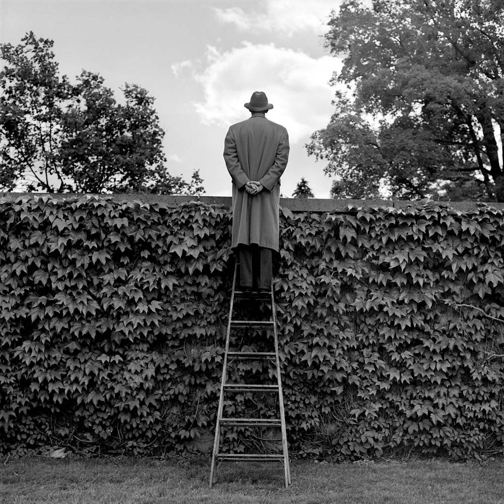 Выглядывать через увитую плющом стену, Нью-Йорк, 1994. Автор Родни Смит