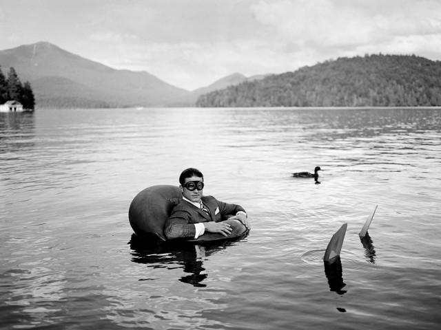 Джеймс и утка в Лейк-Плэсид, Нью-Йорк, 2006. Автор Родни Смит