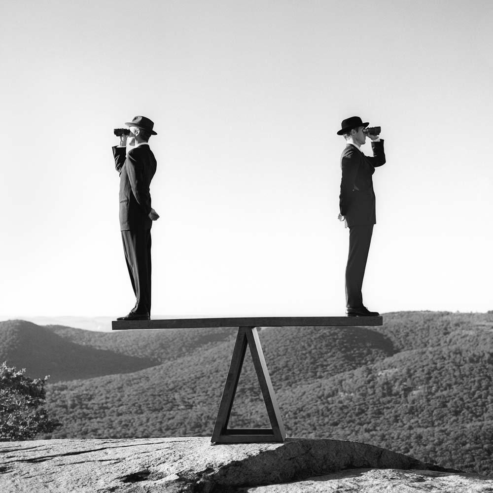 На смотровой площадке Медвежьей горы в штате Нью-Йорк, 2000. Автор Родни Смит