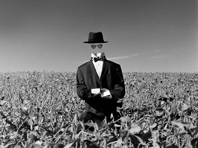 Человек-невидимка в поле, Амениа, Нью-Йорк, 2014. Автор Родни Смит