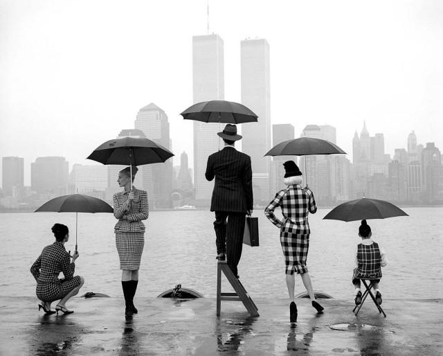 Здания и река Гудзон, Нью-Йорк, 1995. Автор Родни Смит