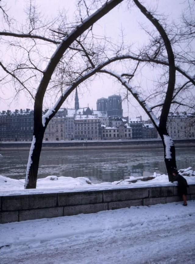 Вид на собор Нотр-Дам, Париж, 1960-1970. Автор Виландер Гёста