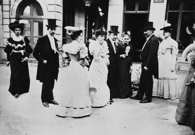 Рабочая свадьба в Париже, 1895-1905. Автор Поль Женью (Paul Géniaux)