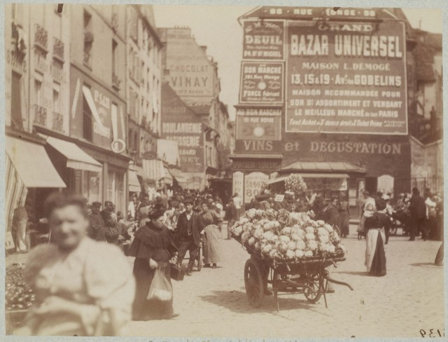 Рынок на площади Сен-Медар, Париж, 1898. Автор Эжен Атже
