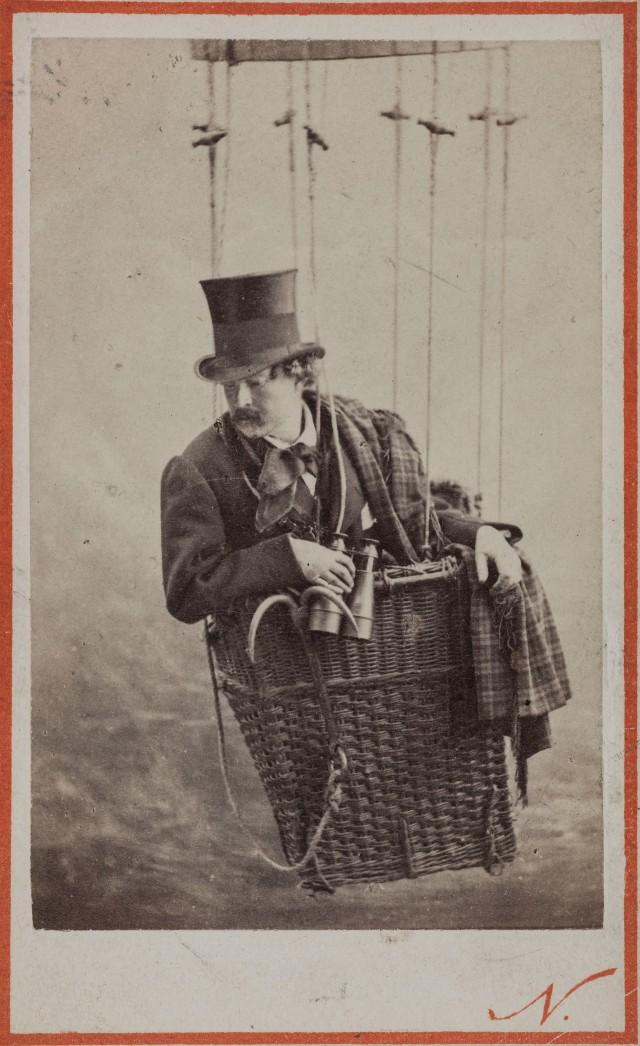 Портрет Надара – французского фотографа, карикатуриста, писателя и воздухоплавателя, 1860-1890