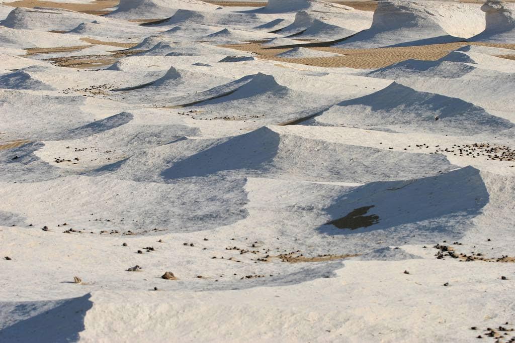 Красивые инопланетные пейзажи в Белой пустыне Египта
