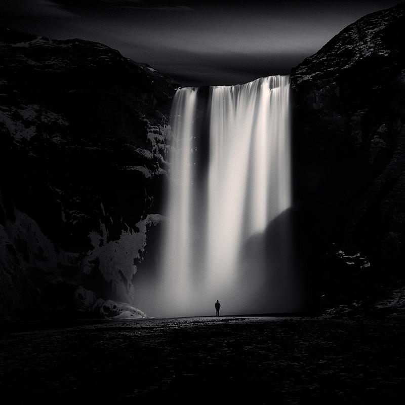 вместе снимались черно белые картинки водопад родных