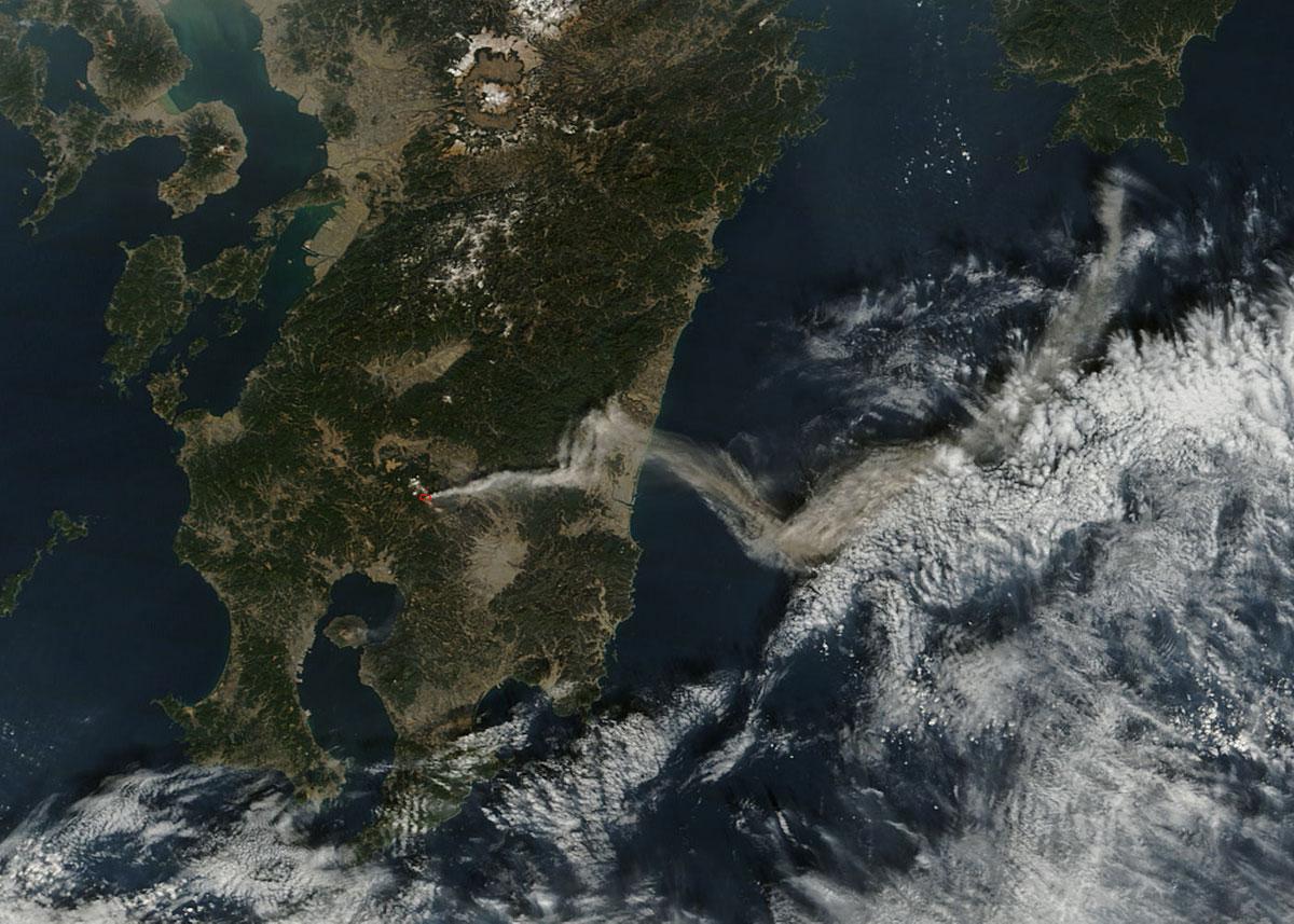 Вулкан Синмоэ (Shinmoe-dake), Япония