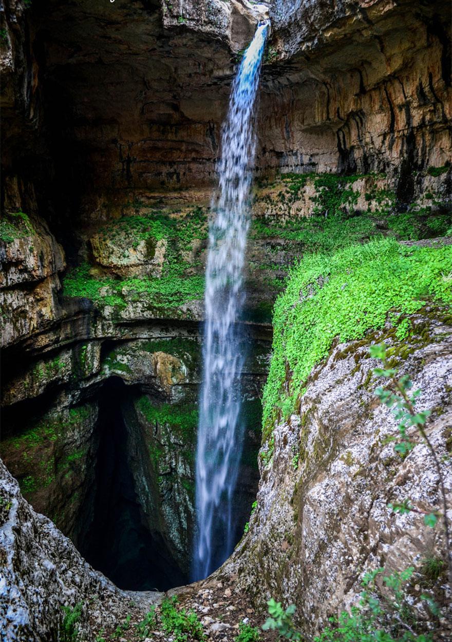Пещера «Пропасть трёх мостов» и водопад «Глотка Баатары» в Ливане-9