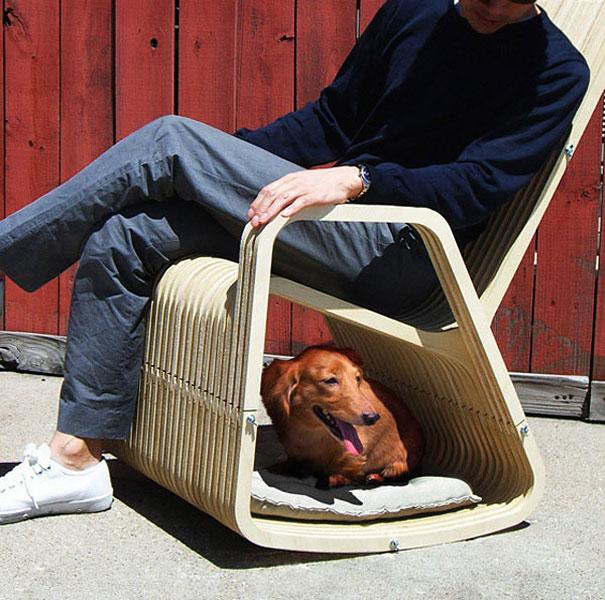Кресло-качалка для человека и домашнего животного