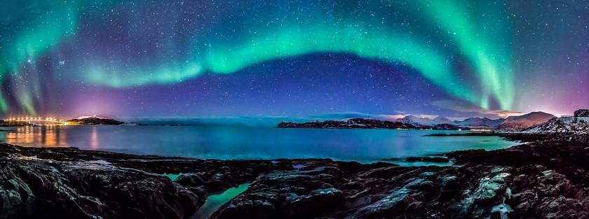 Панорама северного сияния