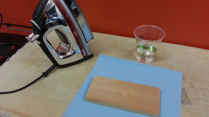 Remove Dents from Wood with an Iron