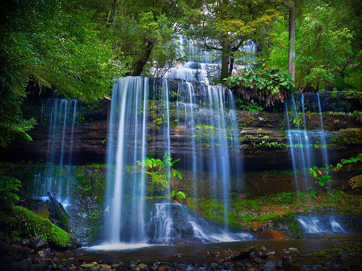 Водопад Расселл, Тасмания