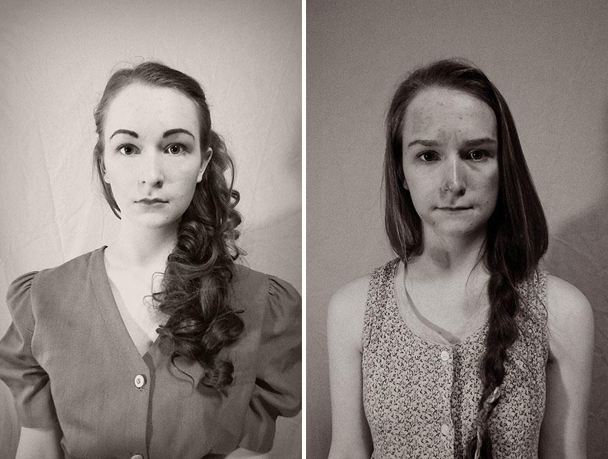 были сравнение фотографий и век спустя первую