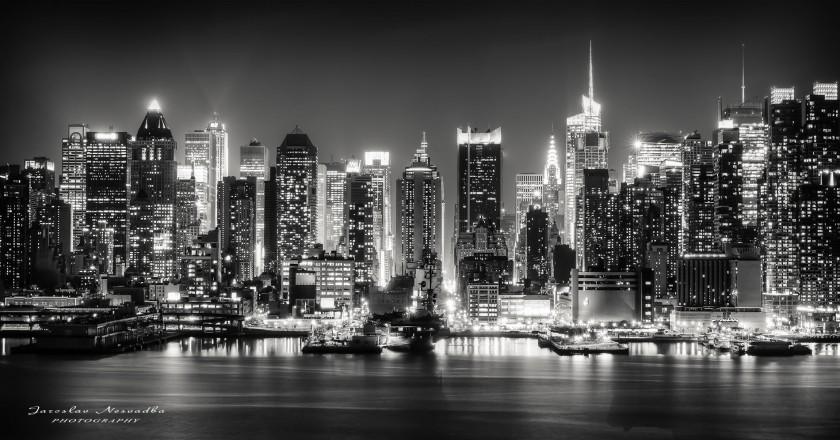 фото города ночью