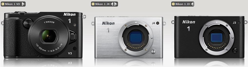 Обзор и сравнение фотоаппаратов Nikon 1 V3, Nikon 1 J4 и Nikon 1 J3