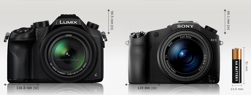 panasonik fz1000 vs sony rx10