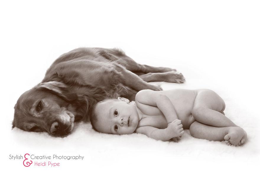Когда собаки большие, а дети маленькие - 44 потрясающие фотографии - 23