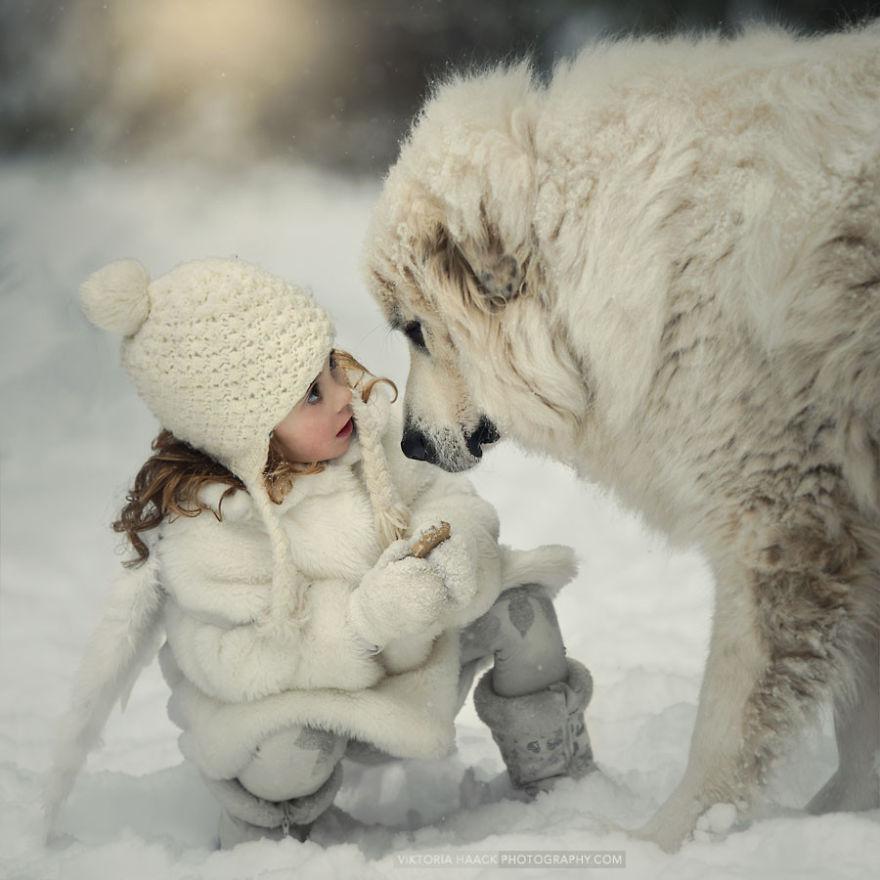 Когда собаки большие, а дети маленькие - 44 потрясающие фотографии - 3