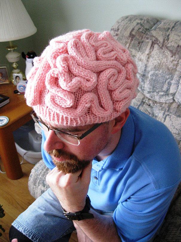 Шапка-мозг схема вязания