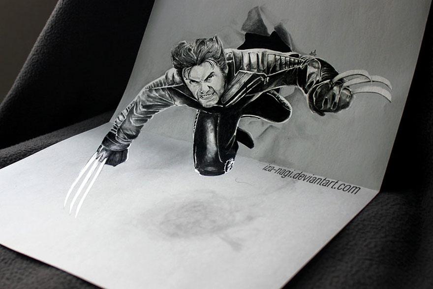 Прикольные рисунки карандашом 3д, онлайн открытку