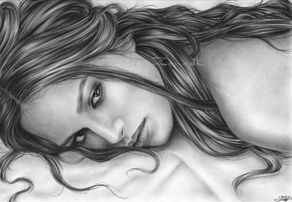 keira knightly celebrity pencil drawing