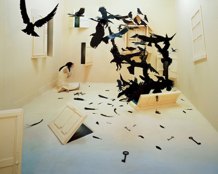 blackbirds 120x96cm Inkjetprint 2009