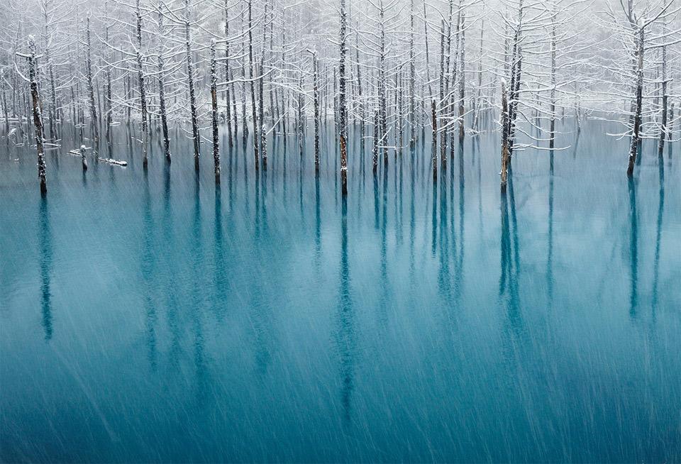 snow-on-a-blue-pond