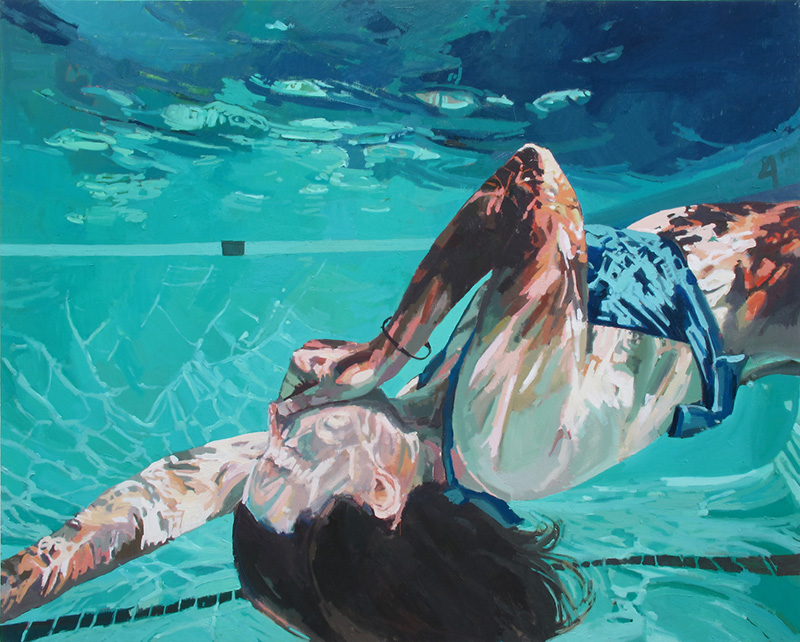 underwater painting people swimming - 900×722