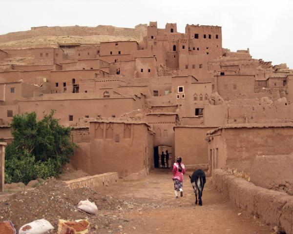 Woman-and-donkey-Ait-Ben-Haddou-Morocco