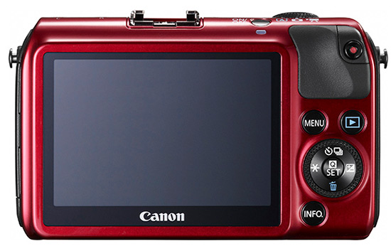 Canon EOS M, red back