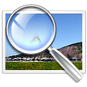 magnifying glass on image
