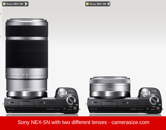 Sony NEX-5N with two lenses