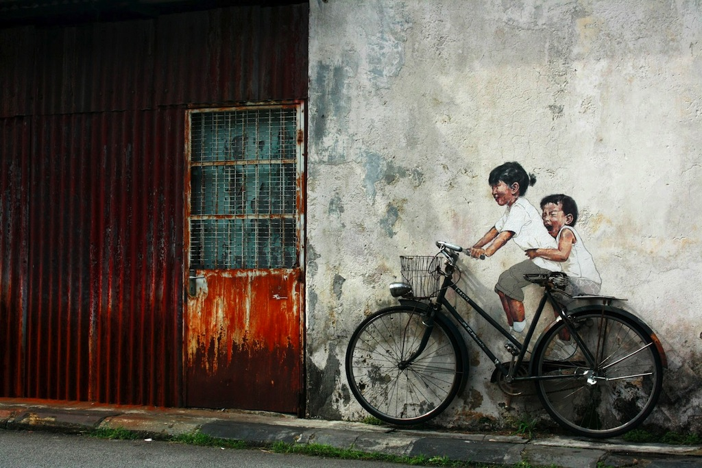 Street Art by Ernest Zacharevic in Penang, Malaysia