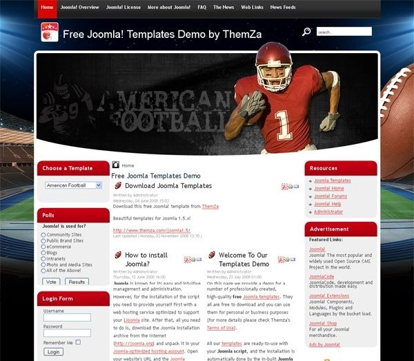 American_Football_joomla_template
