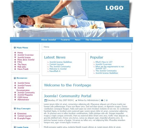 Beach_Massage_health_beauty_joomla_template