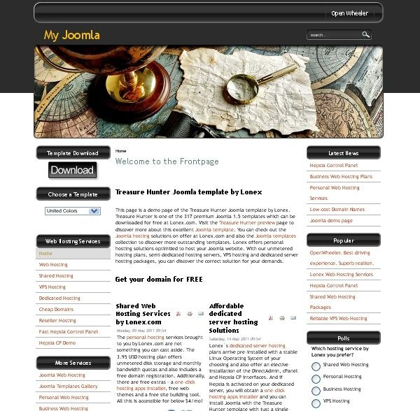 Treasure_Hunter_blog_joomla_template