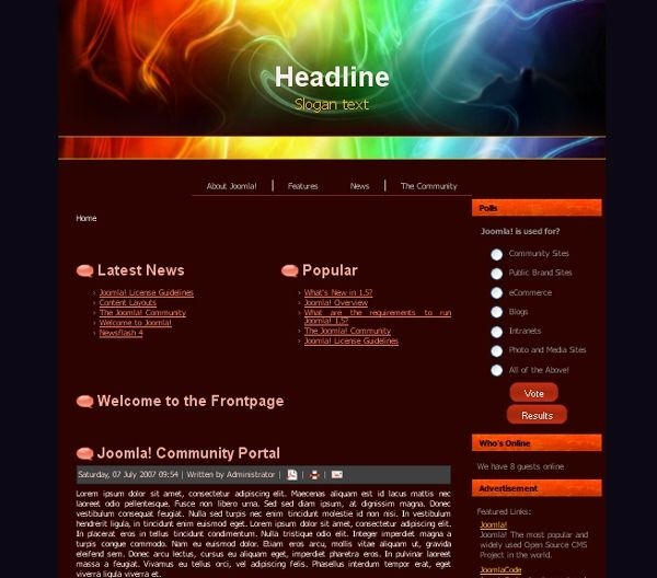 Dark_Colors_blog_joomla_template